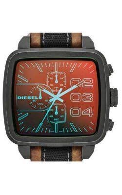 relojes de pulsera cuadrados para hombre, Diesel Correa en Cuero, futurbuy
