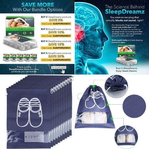 ▷ Tapones de oídos y bolsas de zapatos de viaje en 2021