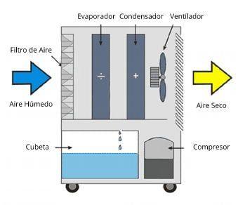 funcionamiento deshumidificador refrigerante